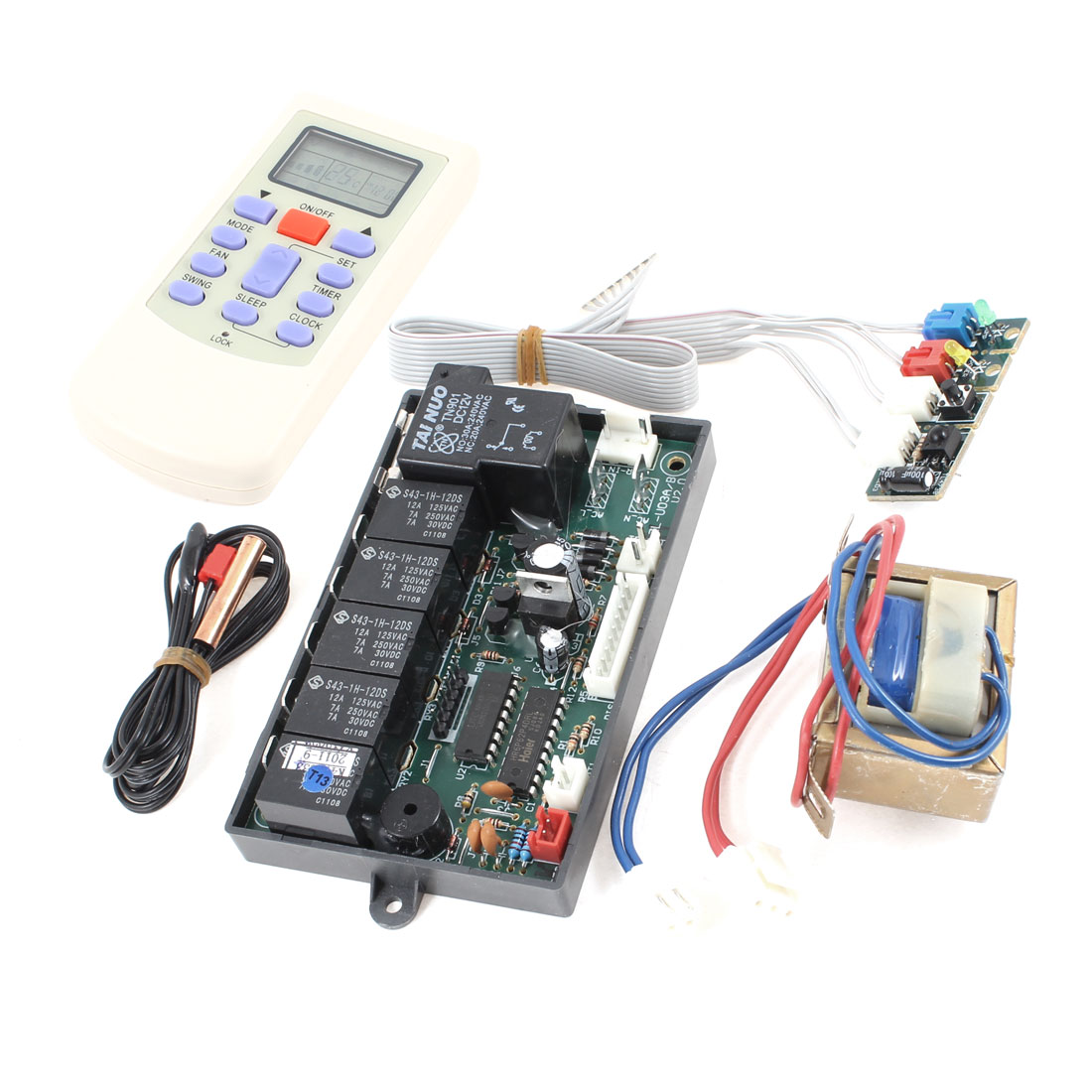 AC 220V 50/60Hz Air Conditioner LCD Digits Remote Controller Panel Board