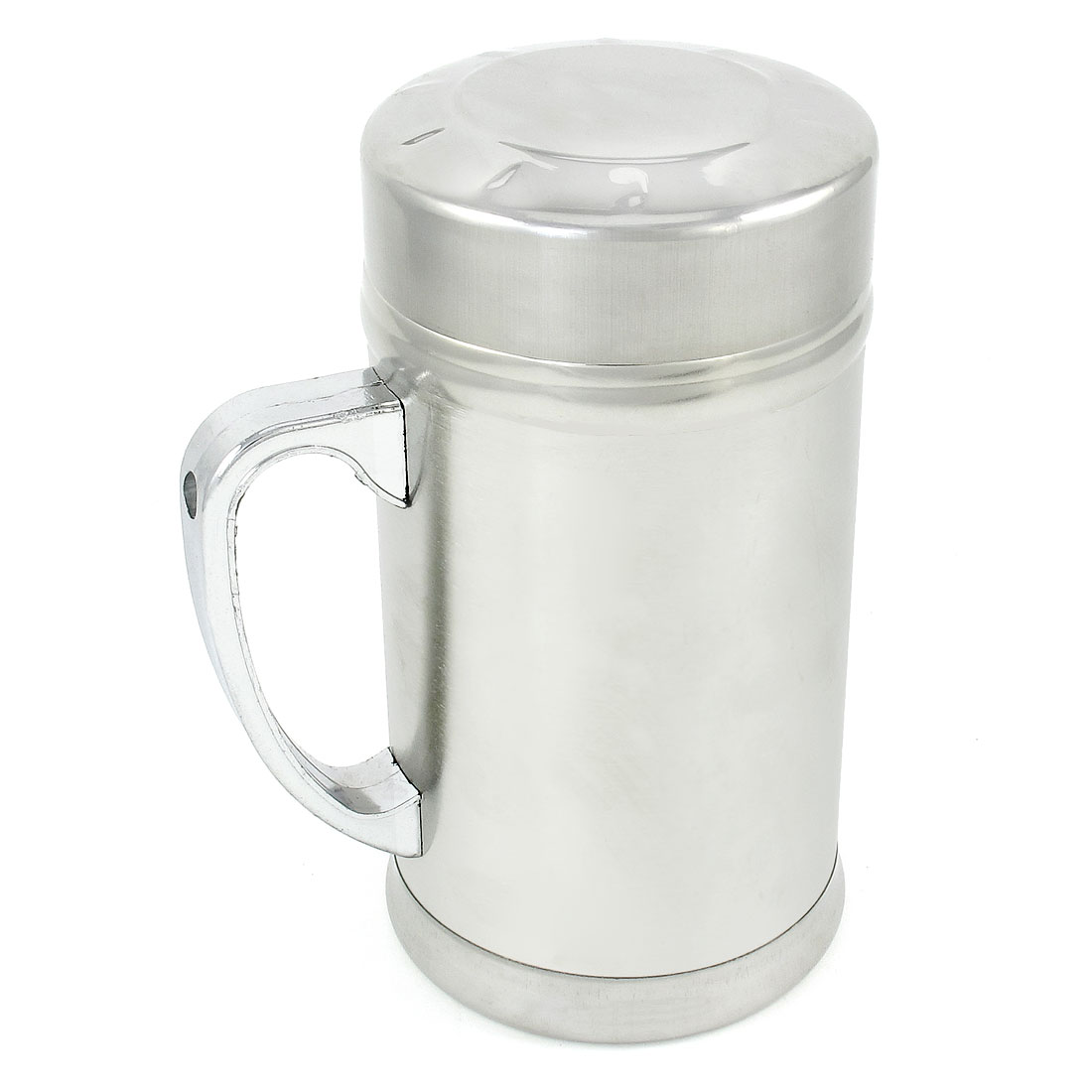 380ml Capacity Silver Tone Drink Container Tea Cup Thermal Mug w Strainer