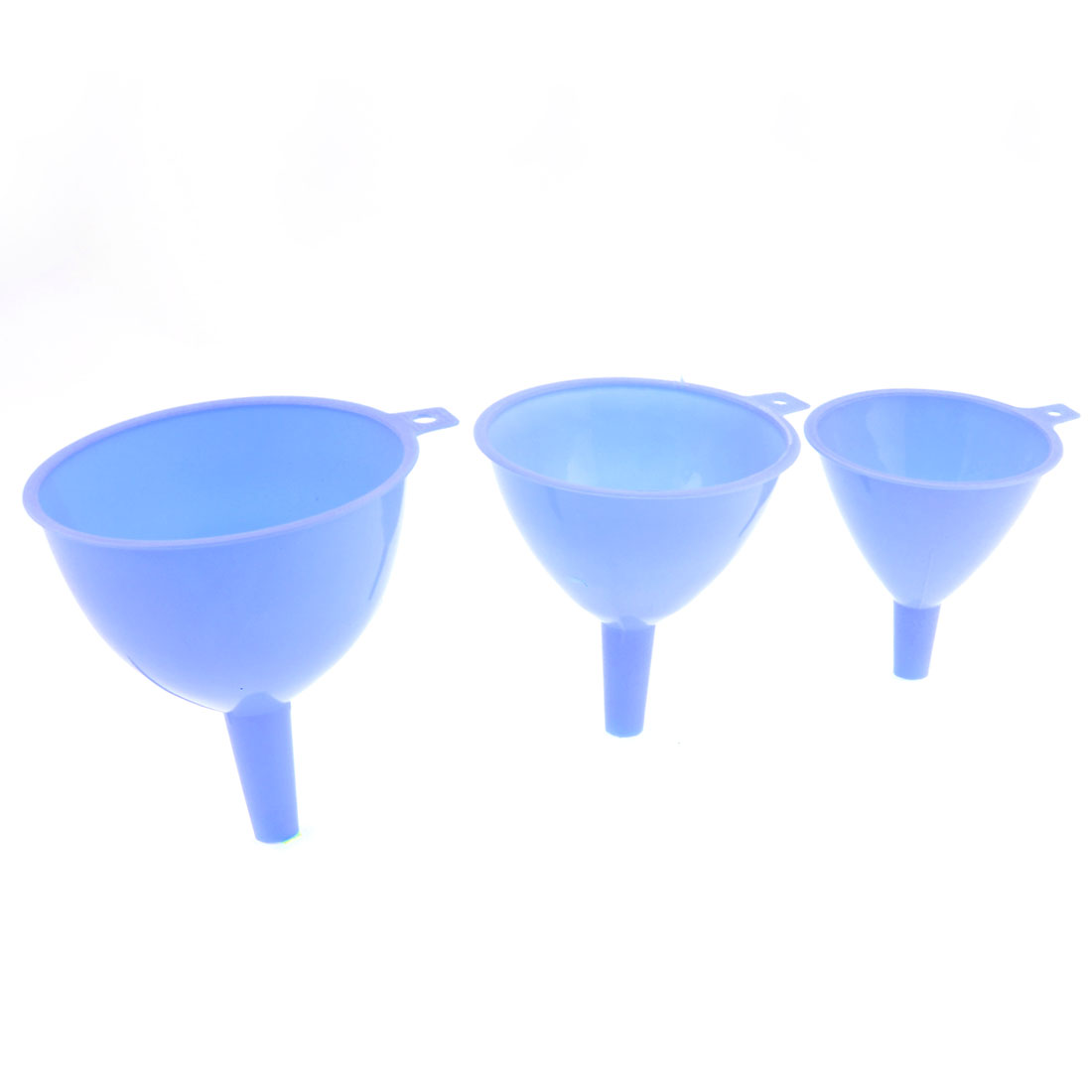 Kitchen Plastic Blue 3 in 1 Water Liquid Earthnut Oil Filling Funnels Set