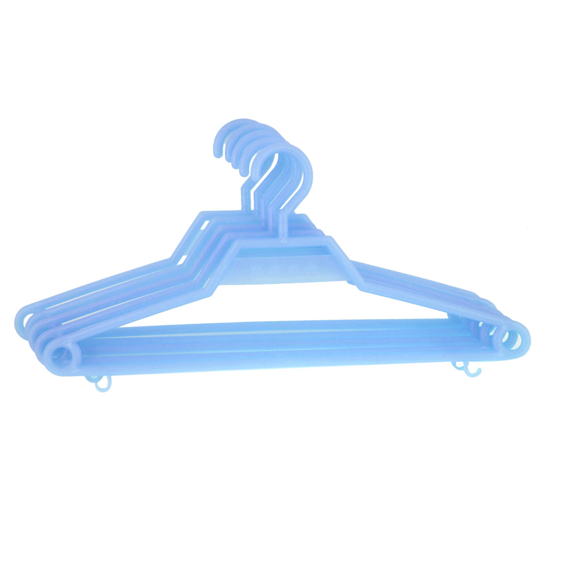 41.5cm x 19cm Jacket Trousers Blue Plastic Clothing Hook Hangers 5pcs