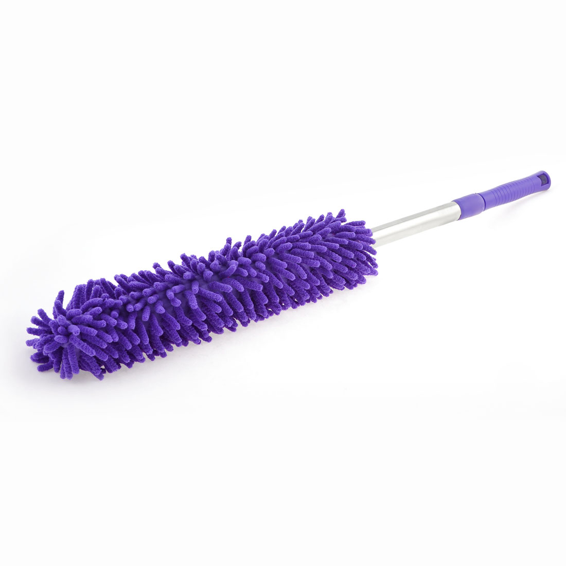"24.8"" Length Purple Plastic Grip Car Microfiber Cleaning Dirt Wash Brush"