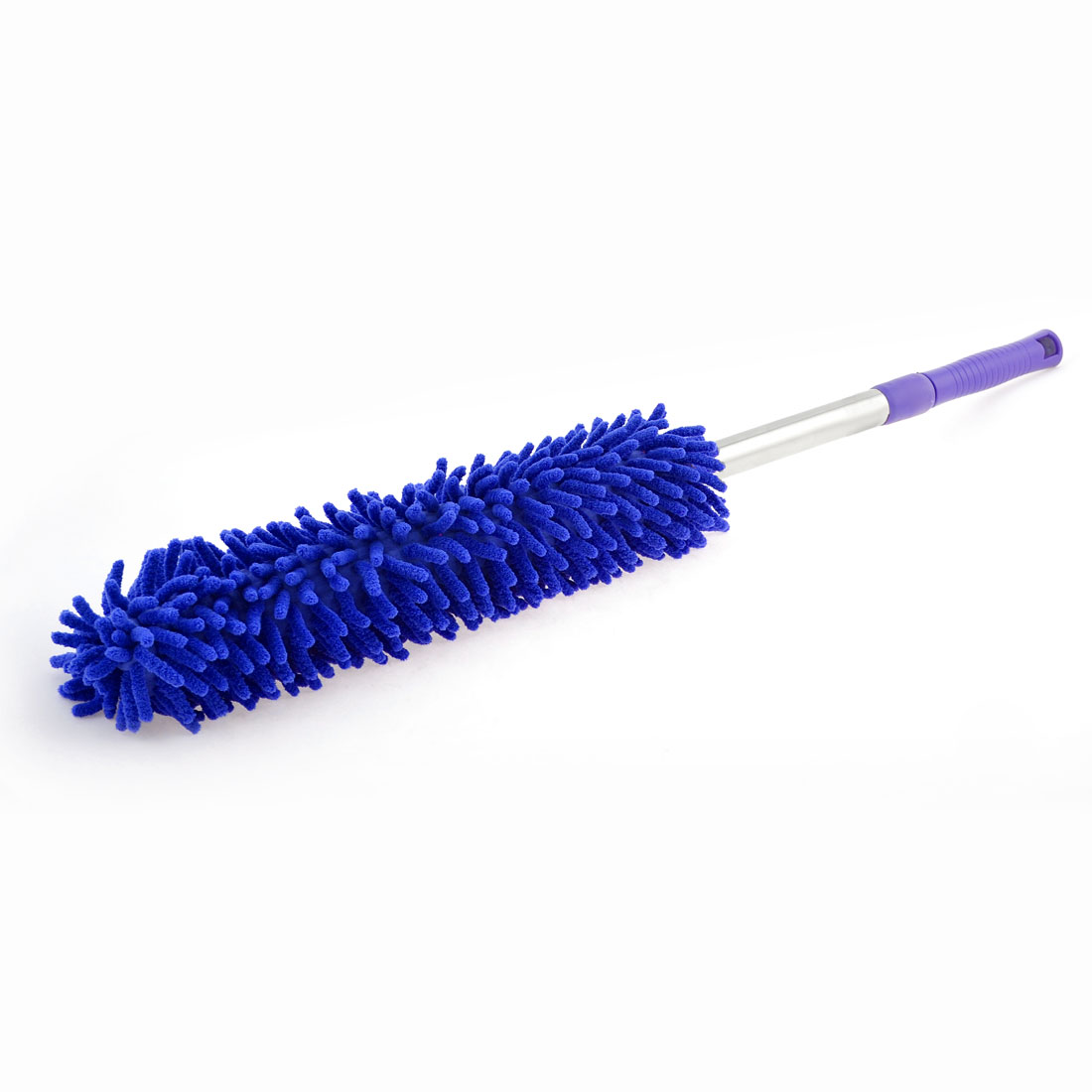 Purple Plastic Coated Handle Car Auto Blue Microfiber Wash Clean Duster Brush