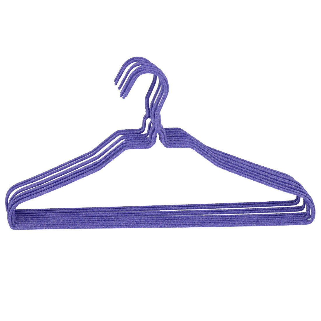 39.5cm x 21cm Trousers Pants Outdoor Indoor Hangers Hook Purple 10pcs