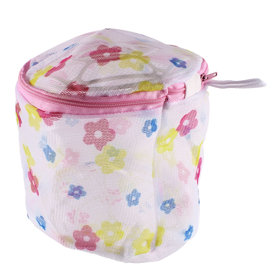 Women Netty Flower Print Bra Underwear Protecting Mesh Bag Basketer Colorful