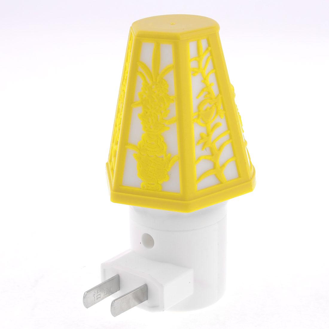 AC 110-250V US Plug Fish Embossment Warm White Light Bedside Night Lamp