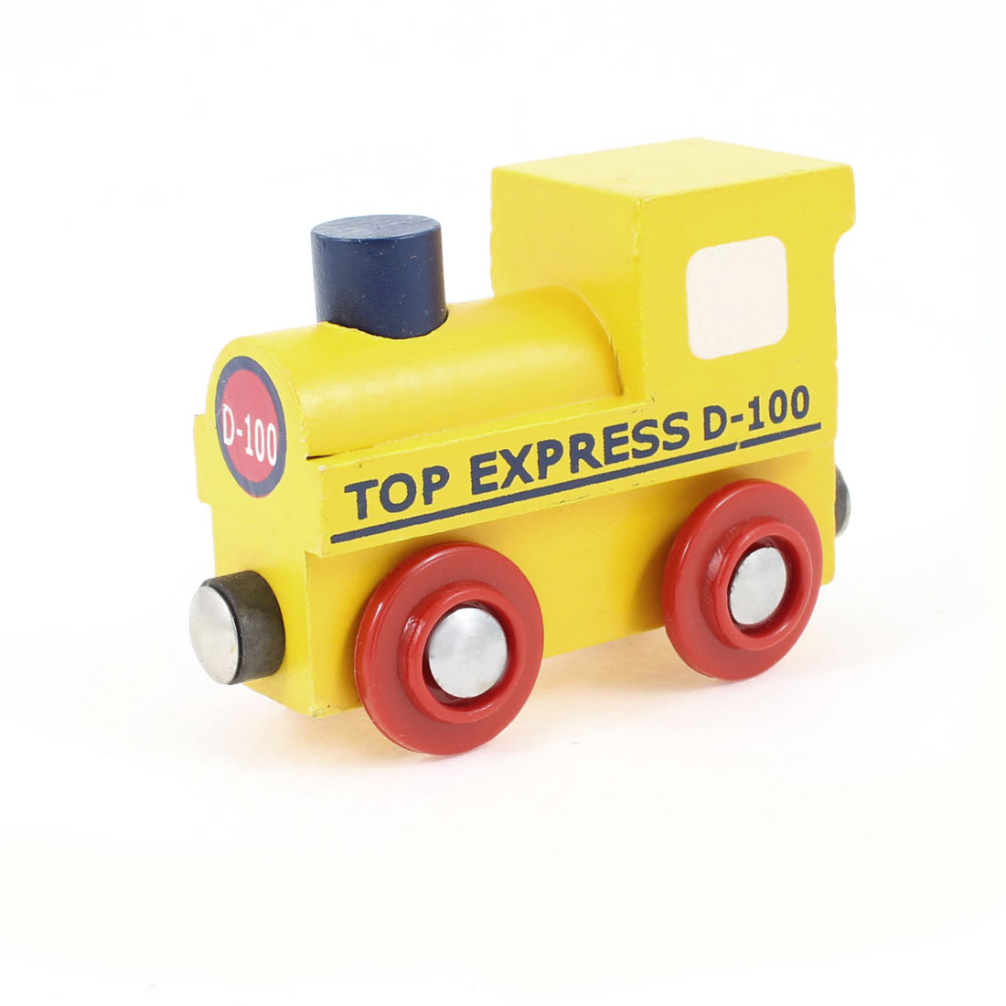 Gift Blue Yellow Red Locomotive Model DIY Wooden Toy for Children