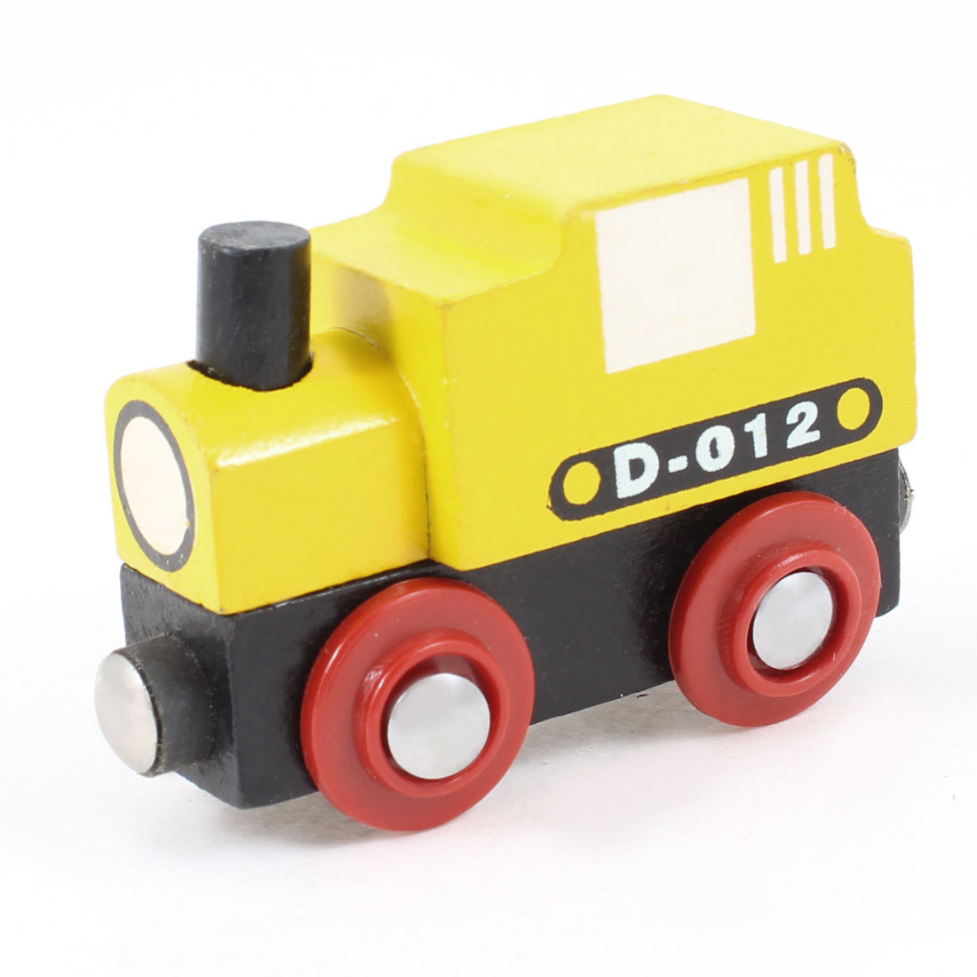 Plaything Black Yellow Red Locomotive Shape Wooden Toy for Kids