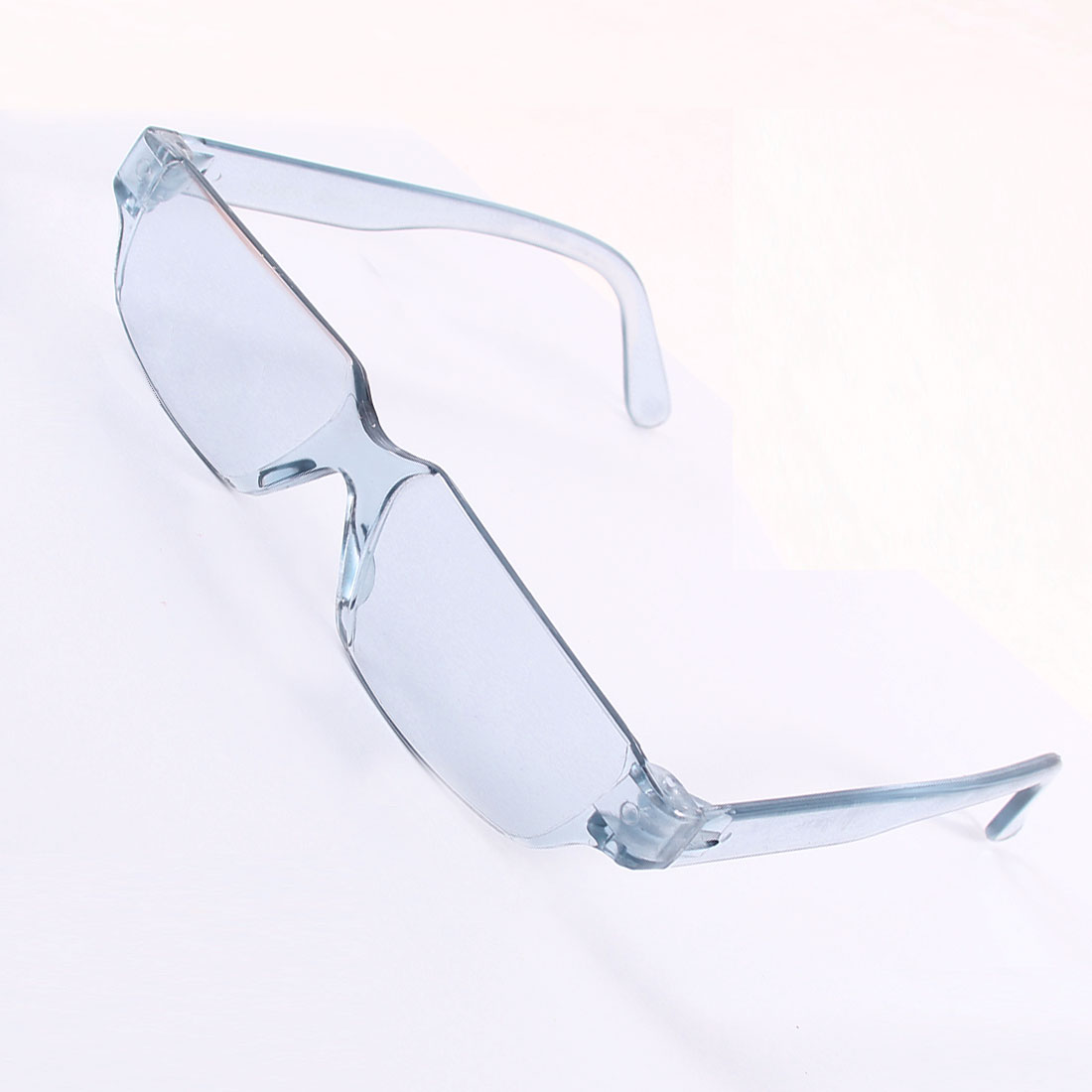 Unisex Rimless Rectangle Lens Clear Blue Plain Glasses