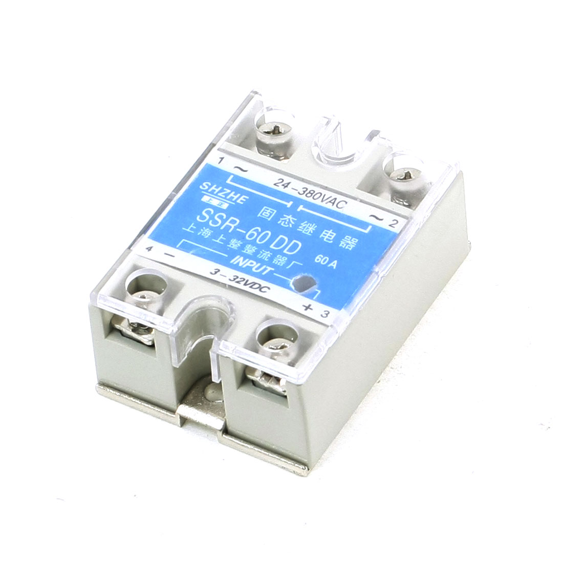 SSR-60DD DC to AC Covered Solid State Relay 24-380VAC 3-32VDC