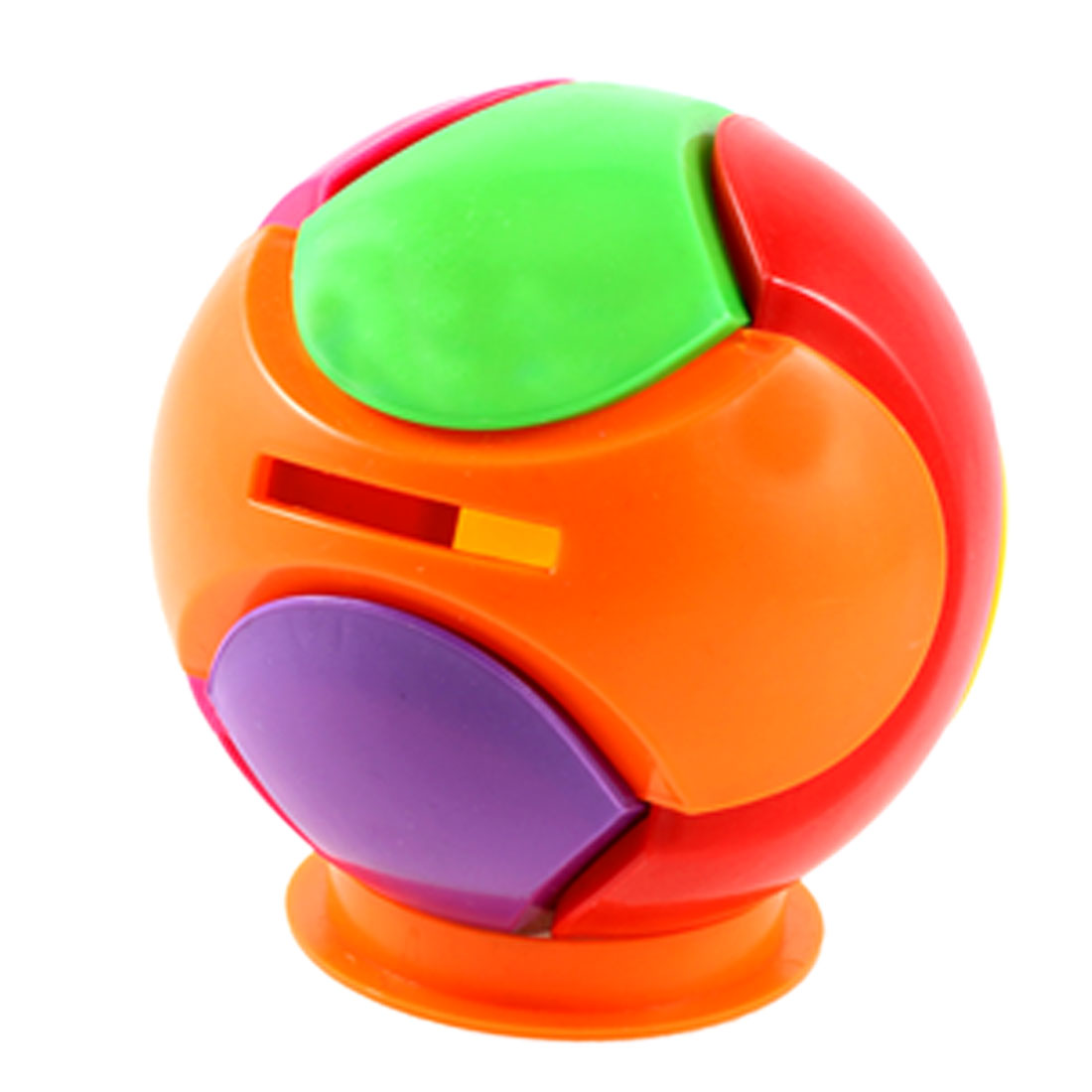 Assorted Color Plastic Ball Shape Piggy Bank Penny Saving Box
