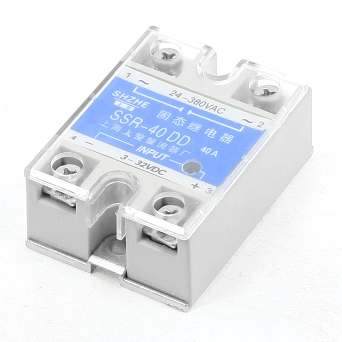 24-380VAC 3-32VDC SSR-40DD DC-DC Gray Solid State Module Relay