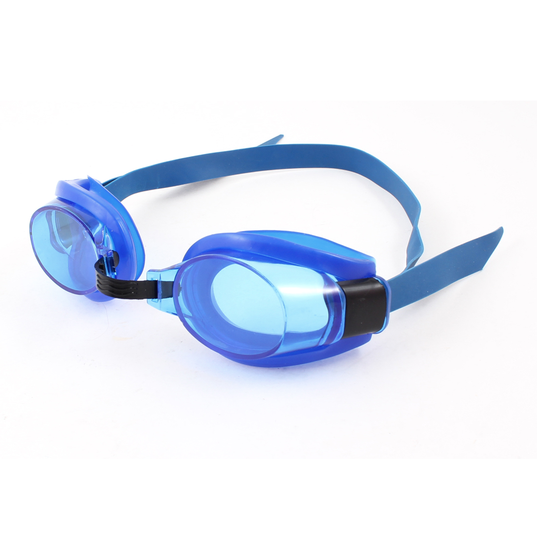 Children Blue Stretchy Antislip Adjustable Band Swimming Goggles Glasses