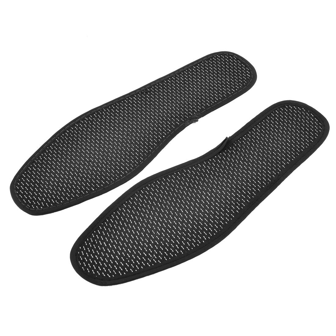 Man Anti-slip Insoles Shoe Pads Black White Pair EU Size 40