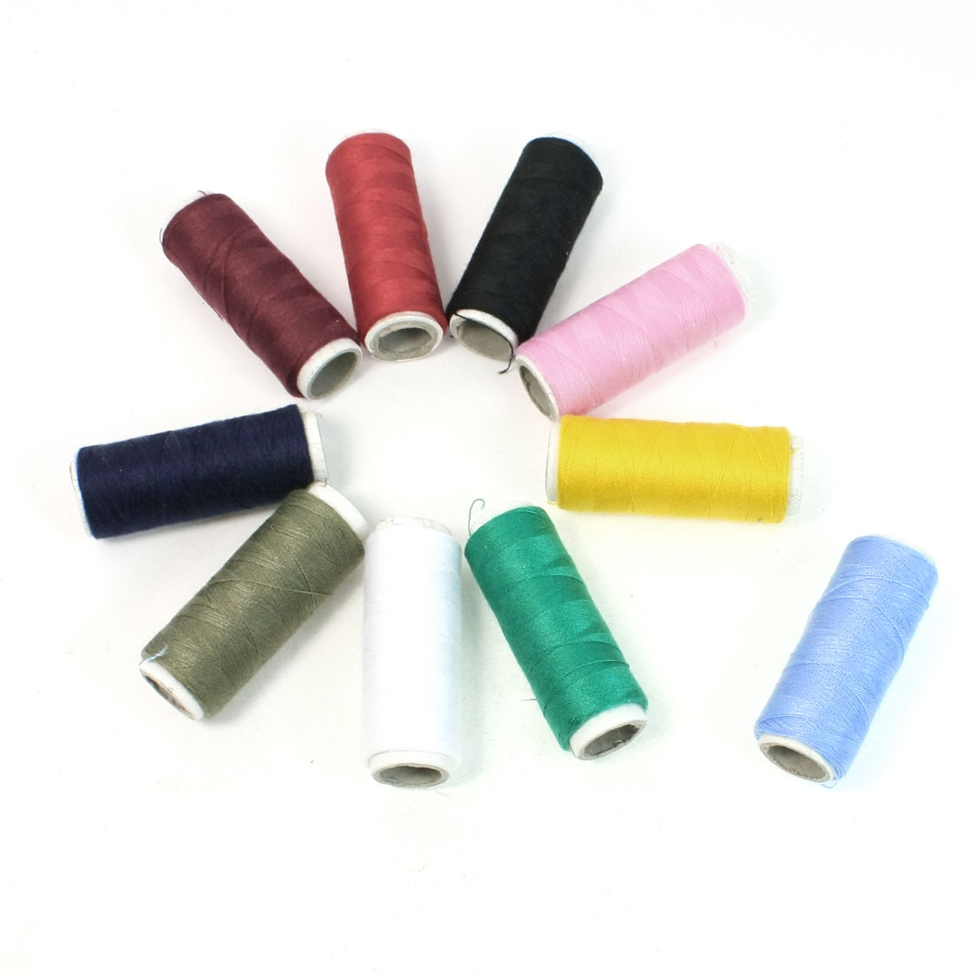 Seamstress Tailor Hand Embroidery Sewing Quilting Colorful Thread Spools 10 Pcs