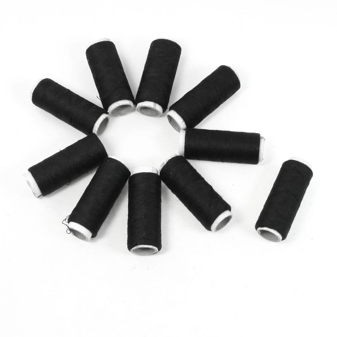 Seamstress Tailor Hand Embroidery Sewing Quilting Thread Spools Black 10 Pcs