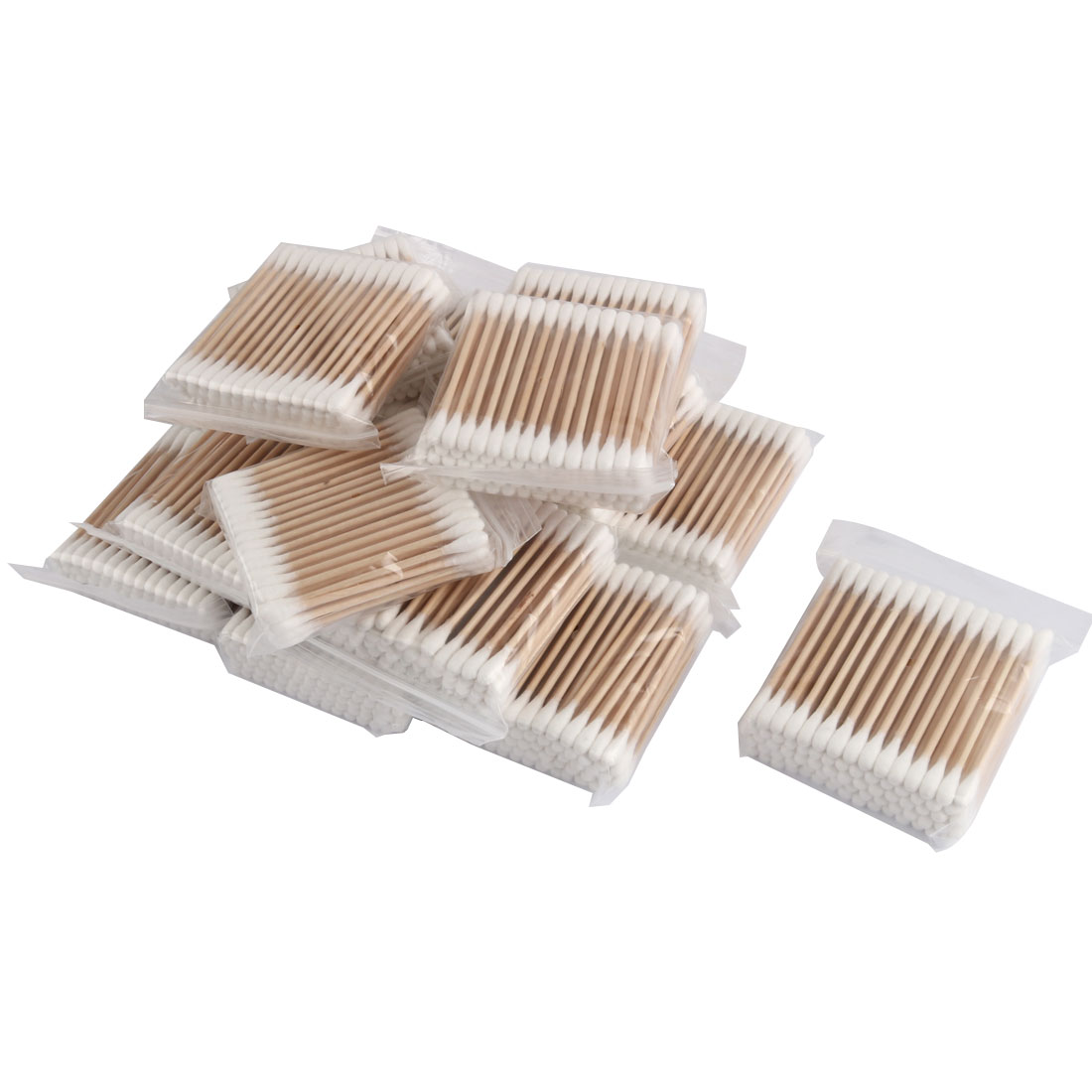 Disposable Double End Wooden Tube Cotton Swab Bud Earwax Remover 24 Packs