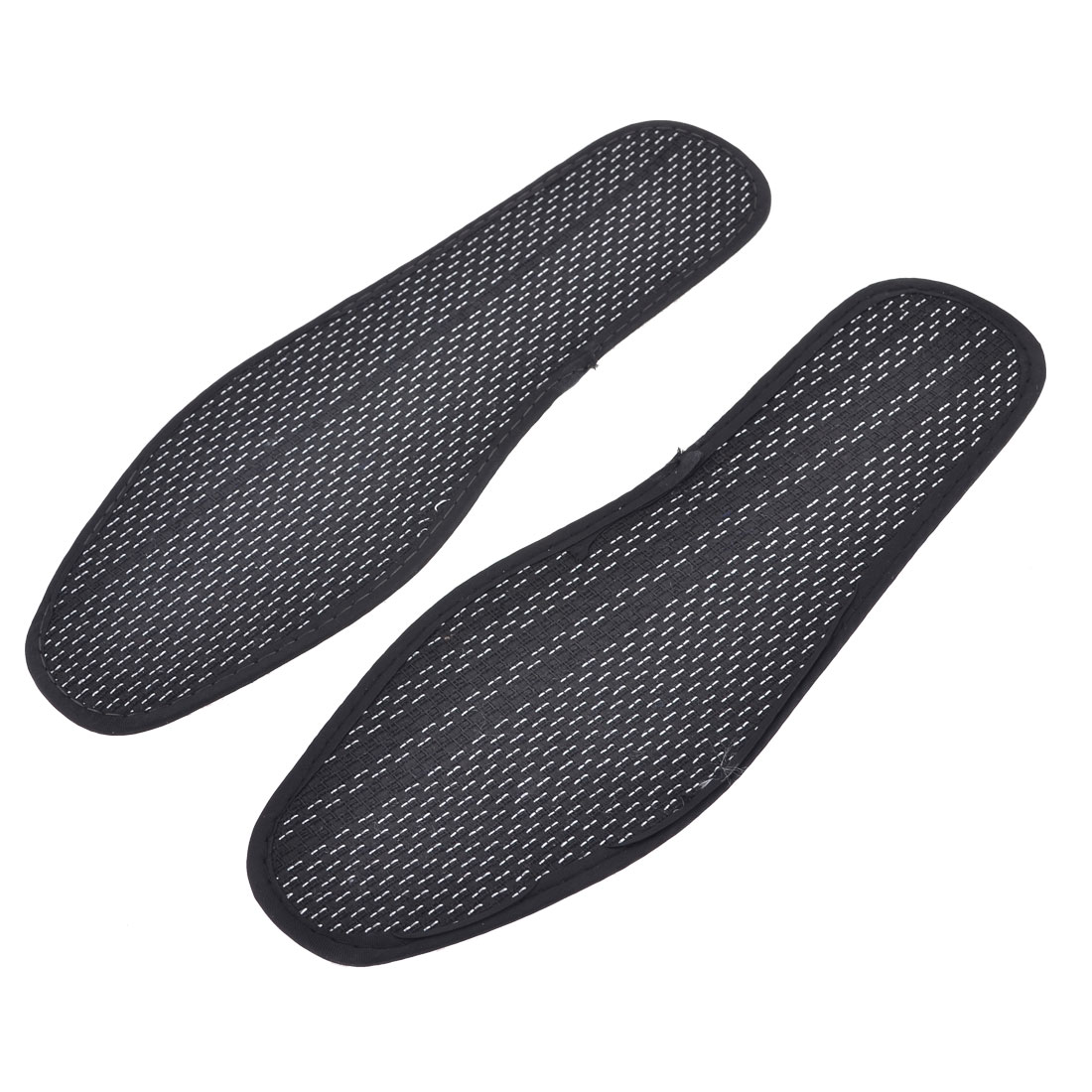 Pair Polyester Insoles Shoe Pads Black White US Size 7.5 for Man