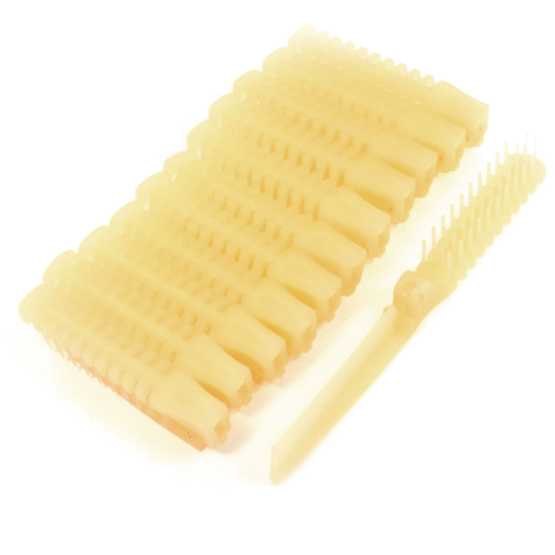 Ladies Pale Orange Plastic Curly Wavy Straight Hair Beauty Comb 12 Pieces