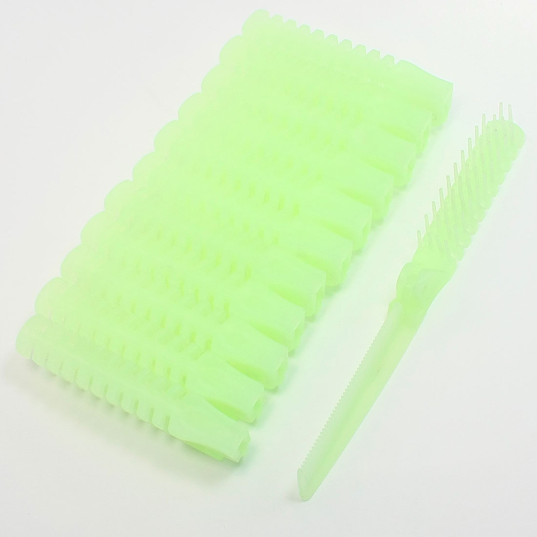 12 Pieces Light Green Plastic Folding Curly Wavy Straight Hair Comb for Women