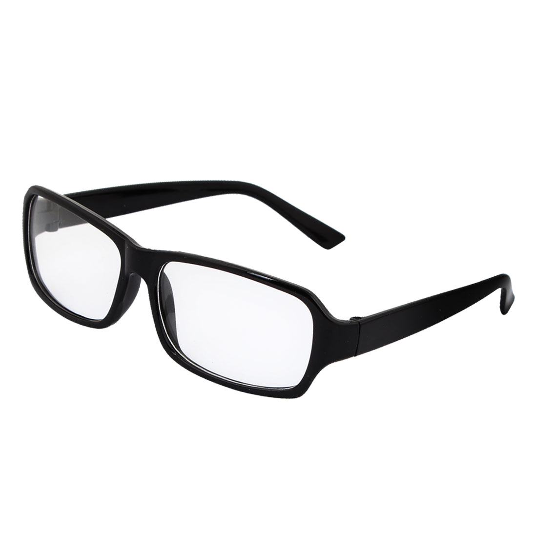 Black Plastic Full Frame Plain Glasses Spectacles for Women Men