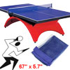 Nylon Table Tennis Replacement Net w Pull String Dark Blue 170 x 14.5cm