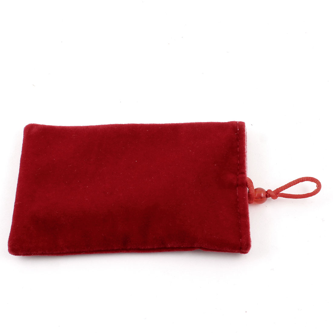 Red Soft Velvet Vertical Cell Phone MP4 MP3 Case Pouch Bag