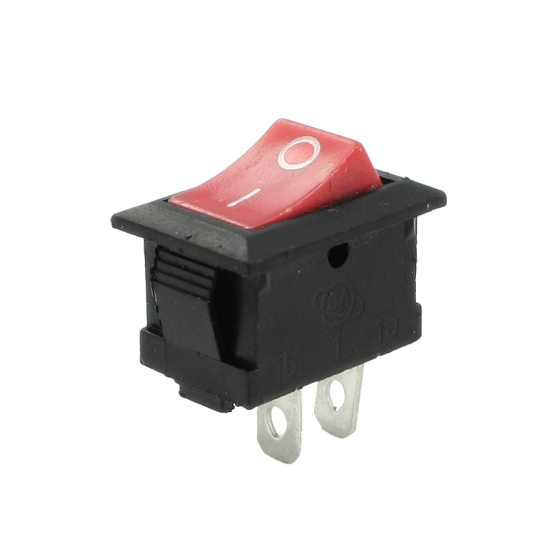 AC 250V 8A SPST 2 Terminal Red Button Snap in Boat Rocker Switch