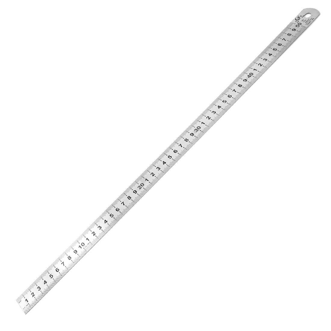 Teacher Student Stainless Steel Double Side 50cm Measurement Ruler Tool