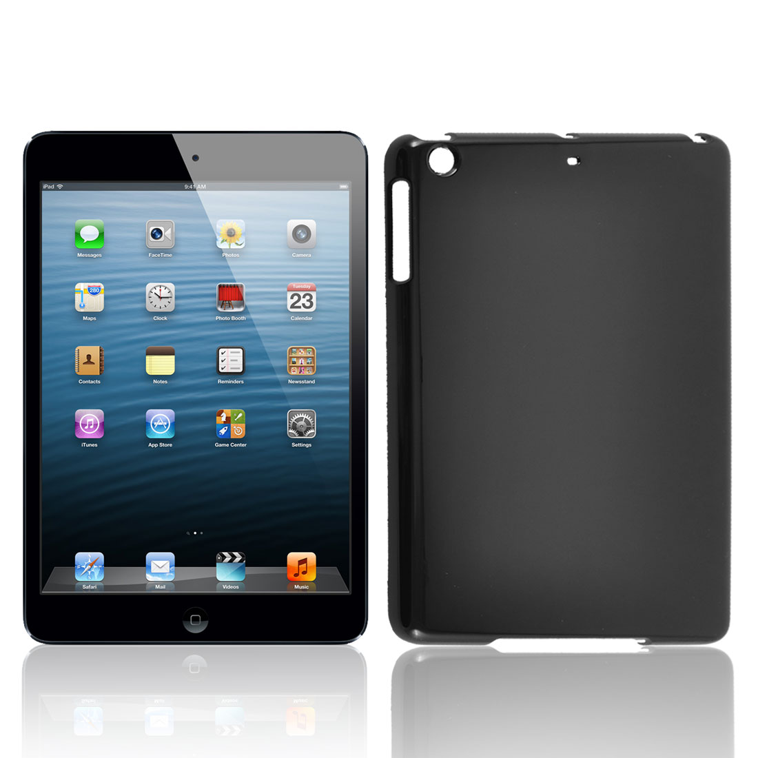Black Hard Plastic Protective Case Cover for Apple iPad Mini