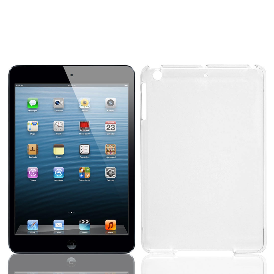 Clear Hard Plastic Protective Case Cover for Apple iPad Mini