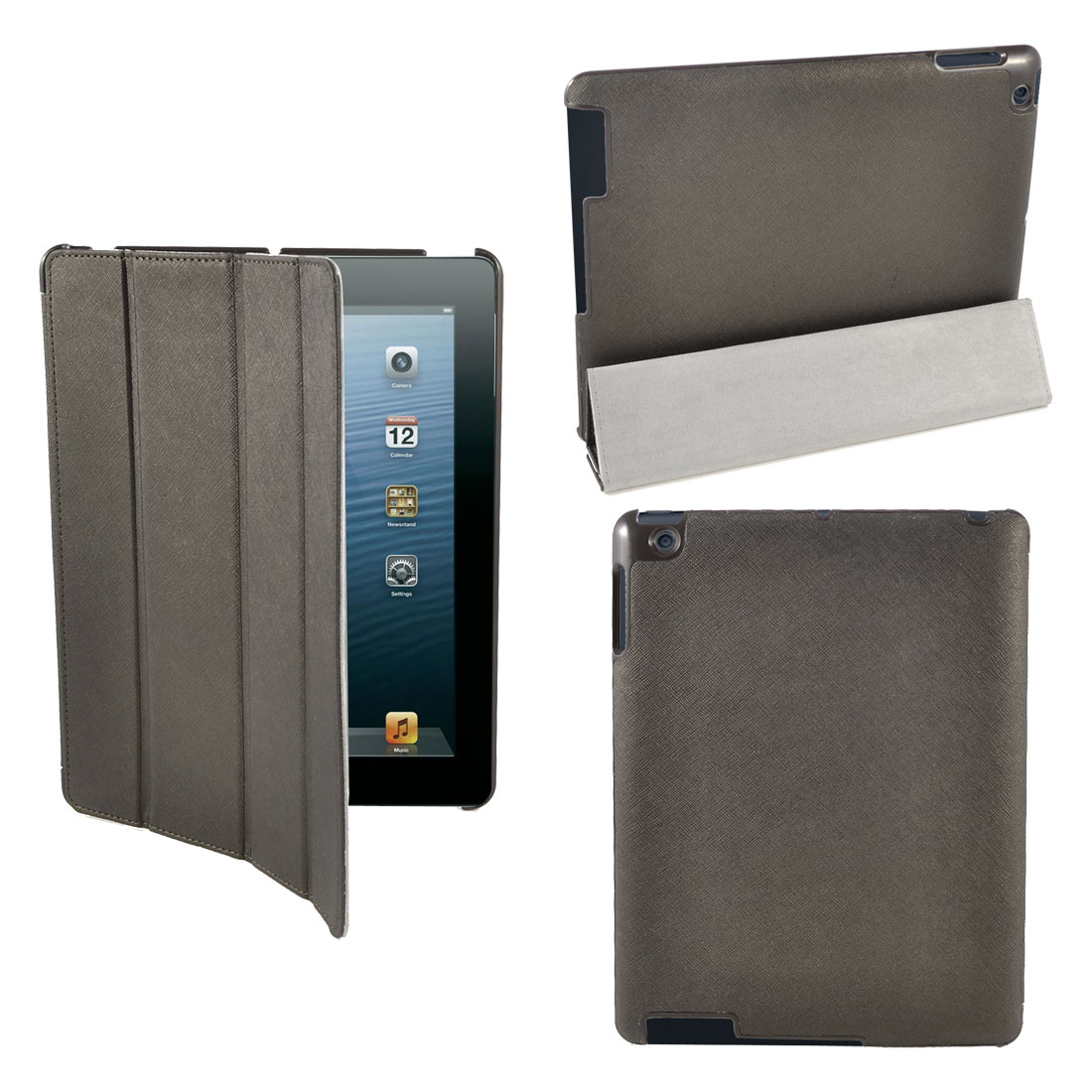 Brown UP Leather Wake Up Sleep Stand Case Smart Cover for iPad 2 2nd