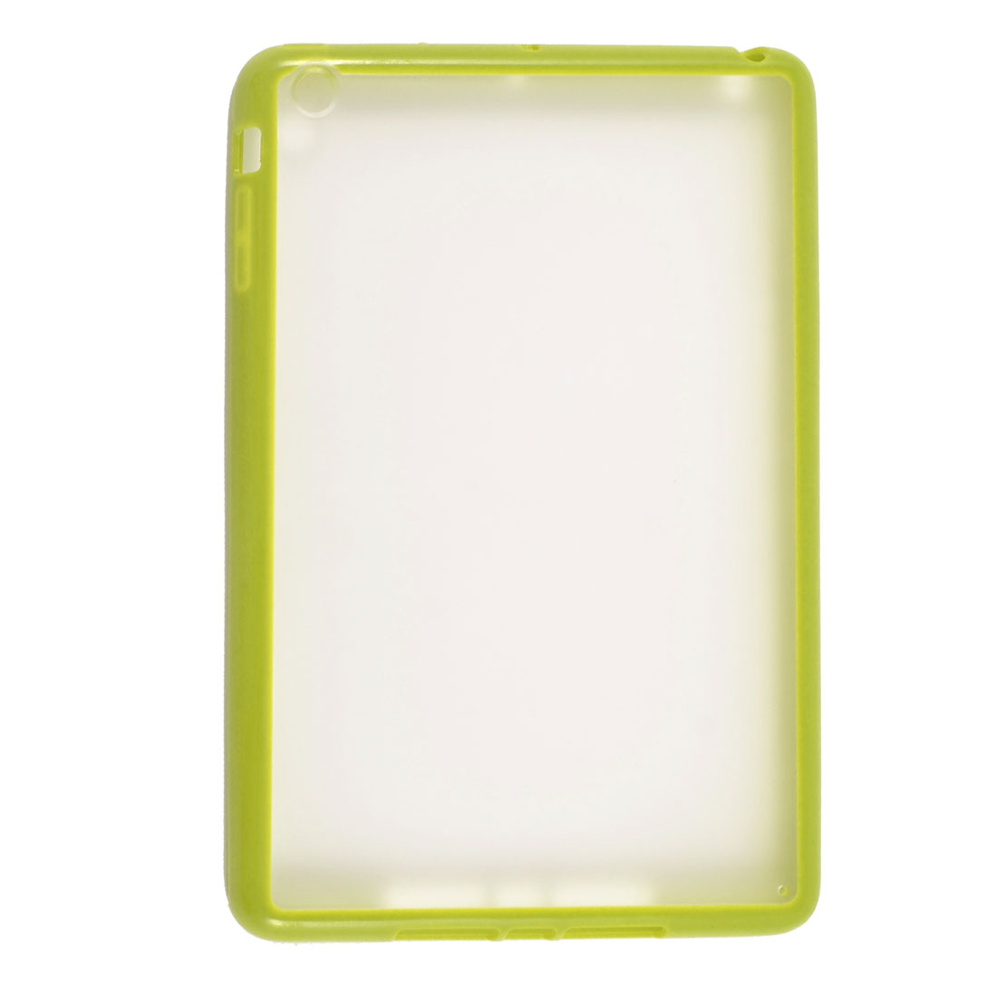 Yellow Green Soft Brim TPU Clear Plastic Matte Case Cover for Apple iPad Mini