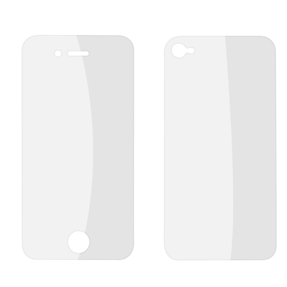 Pair Front Back Clear LCD Screen Guard Film Protector for iPhone 4 4G 4S 4GS