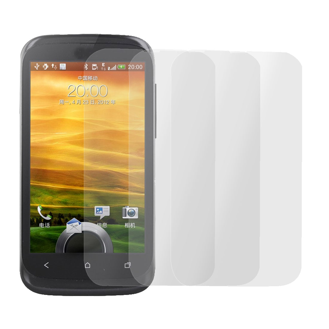 3 Pcs Plastic Anti-glare Transparent Screen Protector for HTC T328W