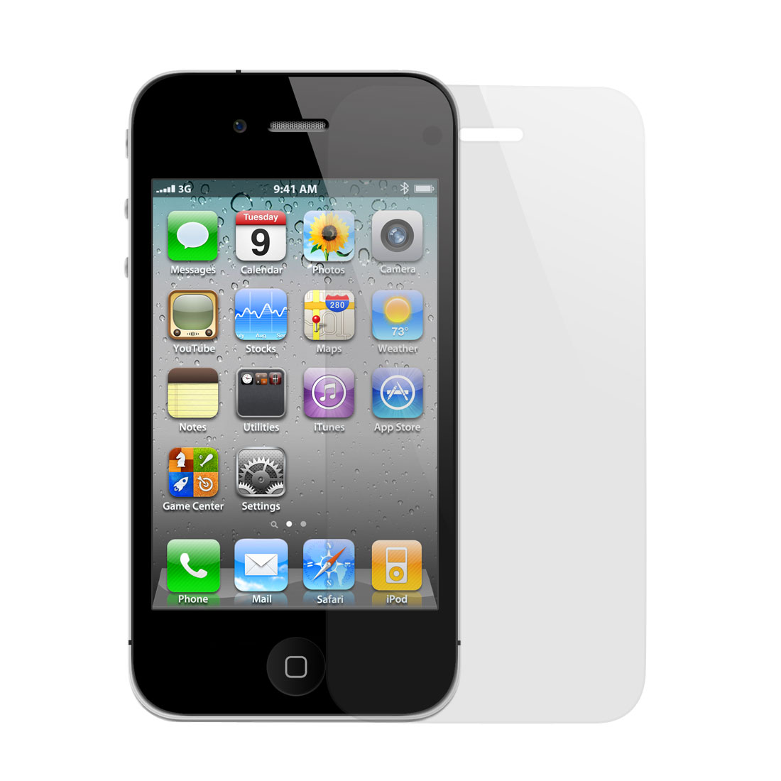 Clear Front LCD Screen Guard Film Protector for Apple iPhone 4 4G 4S