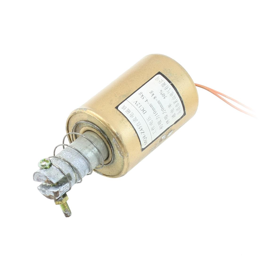 12V DC Pull Type Tubular Frame Electromagnet Solenoid Actuator