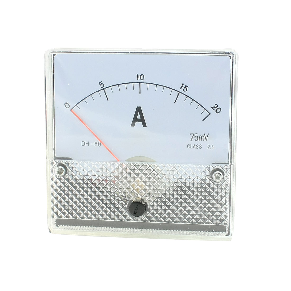 DC 0-20A Square Current Panel Meter Analog Ammeter