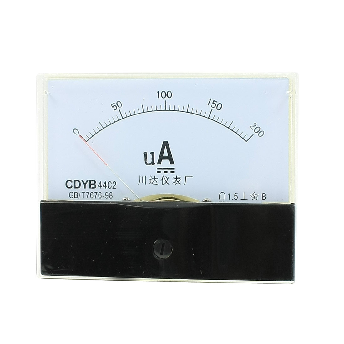 Class 1.5 Accuracy DC 0-200uA Analog Ammeter Panel Meter