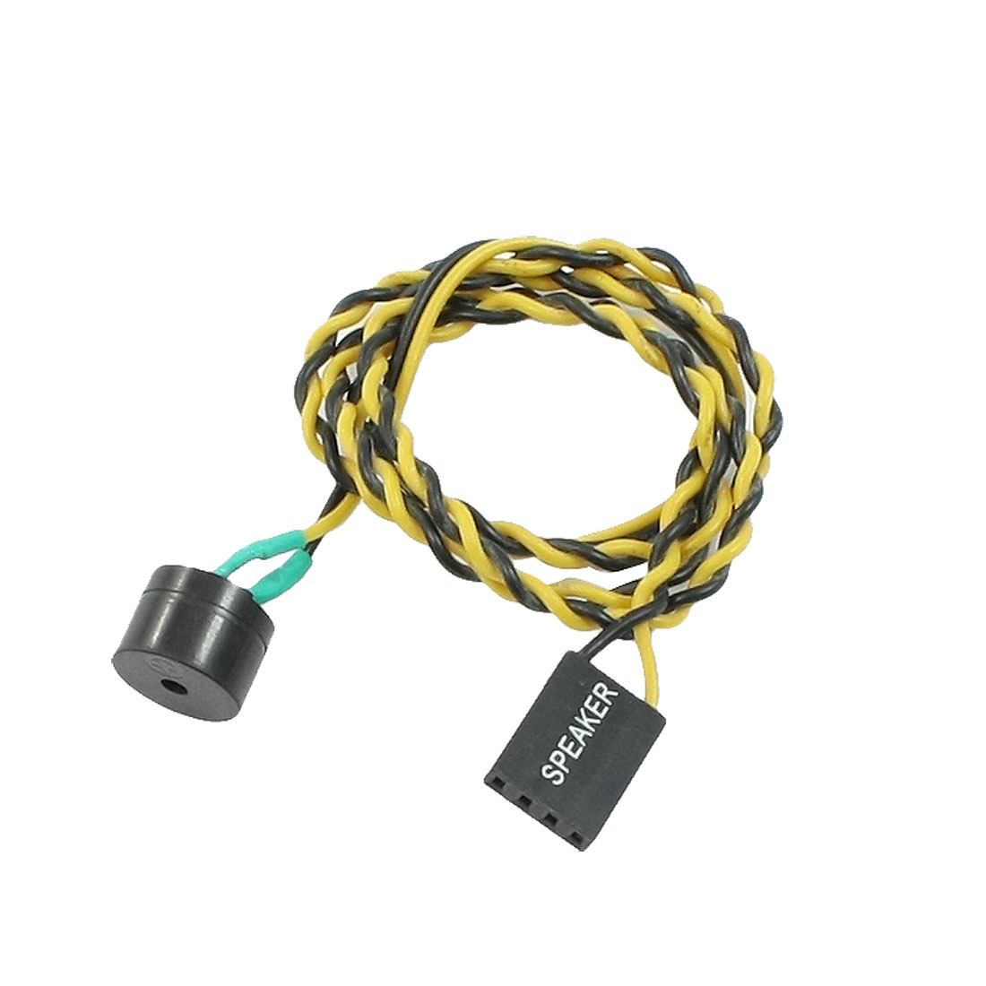 "19.7"" Length ATX Power On Computer Supply Reset Switch Cable Yellow Black"