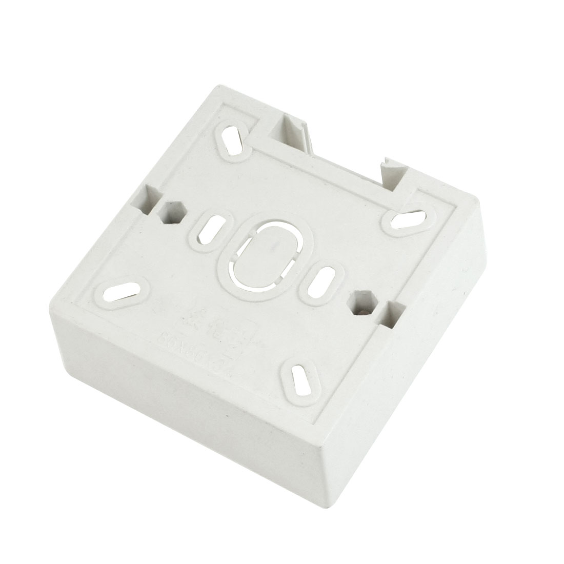 86mm x 86mm x 34mm Srew Faceplate Mounted White Plastic Back Box
