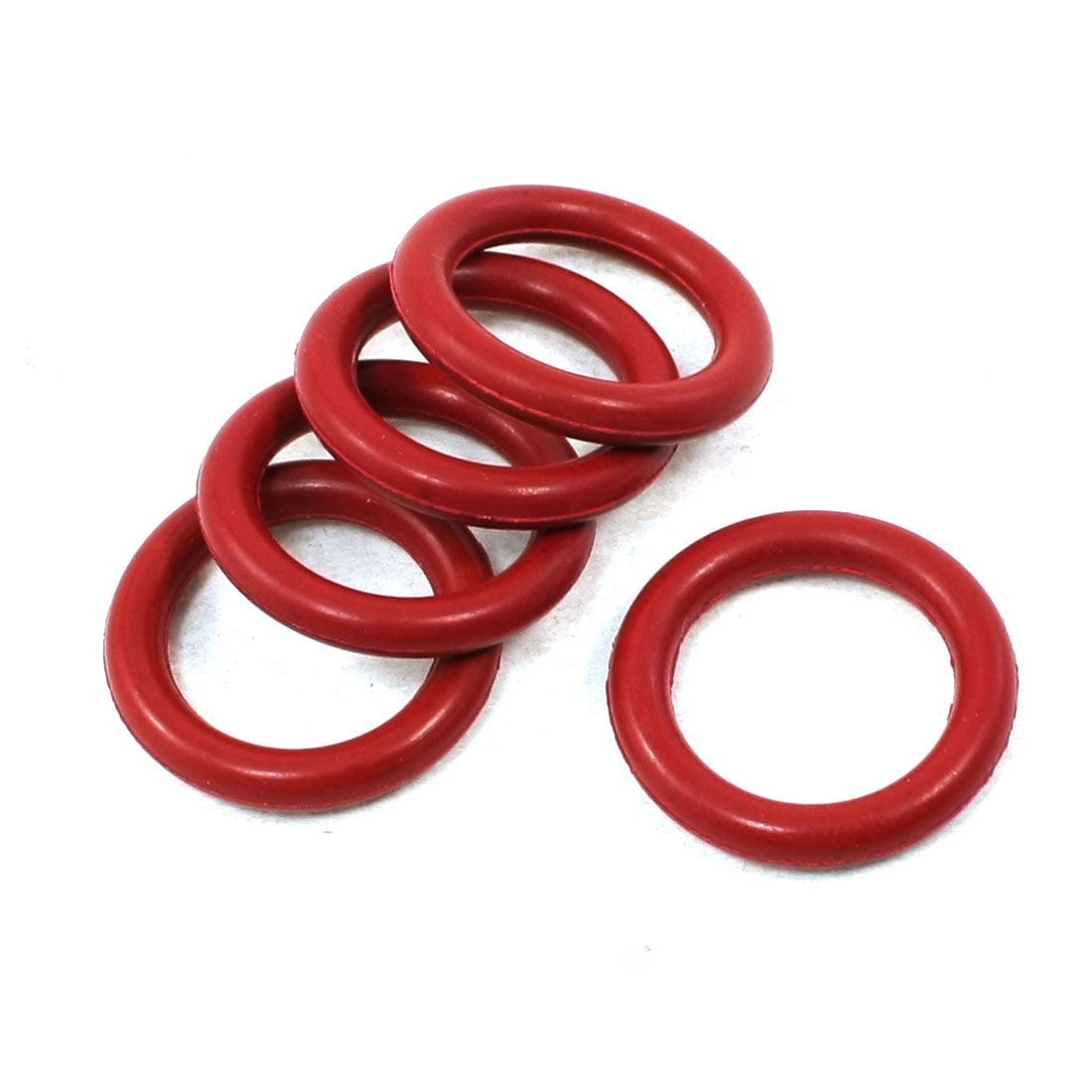 5 Pcs Electric Tool Red Rubber O Ring Oil Seal Gasket 21mm x 14.6mm x 3.2mm