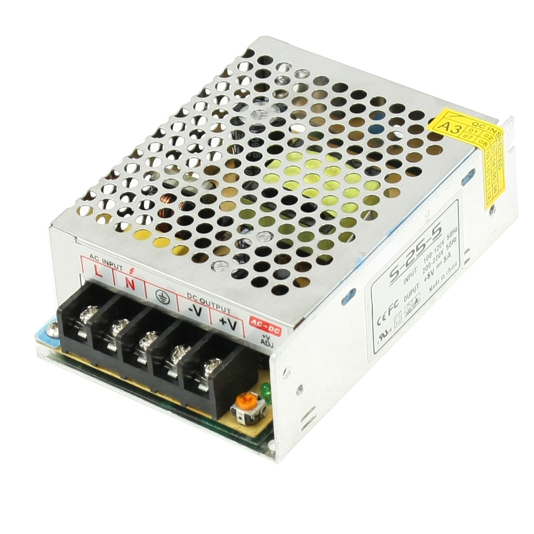 AC 110V 220V to DC 5V 5A 25W Switching Power Supply Converter for LED Strip Light