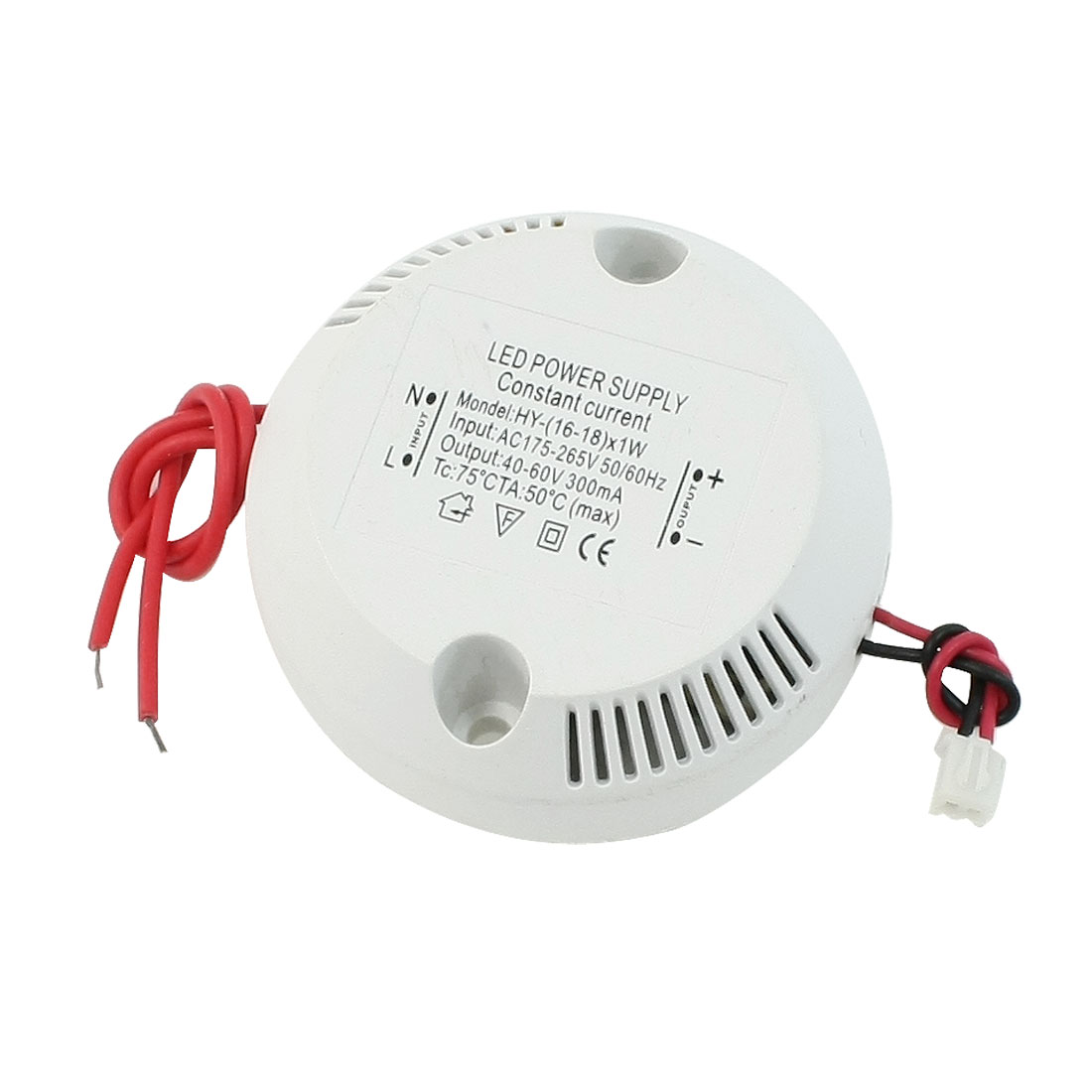 AC 175-265V to DC 40-60V (16-18)X1W Round Power Supply Driver for LED Strip Light
