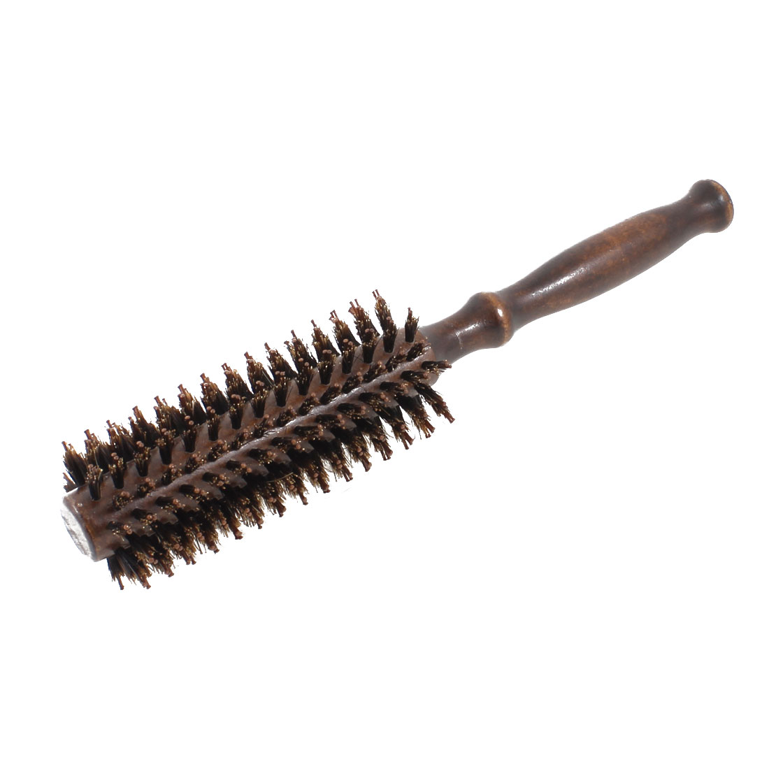 "9.1"" DIY Hairdressing Curly Hair Care Round Bristles Brush Comb Coffee Color"