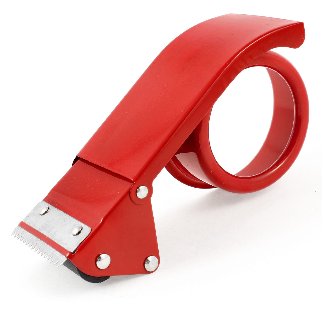 Sealing Packaging Metal 48mm Width 7cm Inner Dia Tape Cutter Dispenser Red