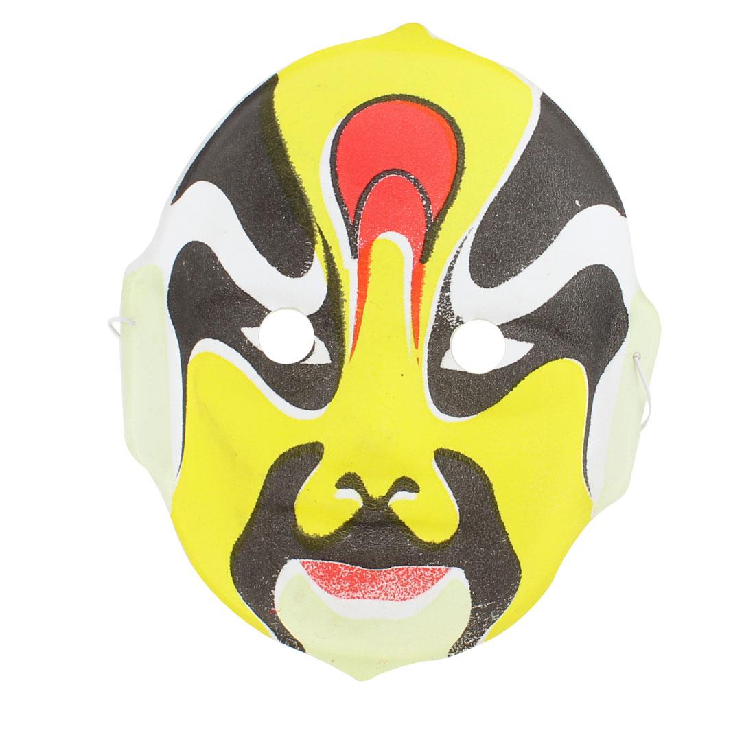 Yellow White Black Red Karneval Parties Peking Opera Face Mask