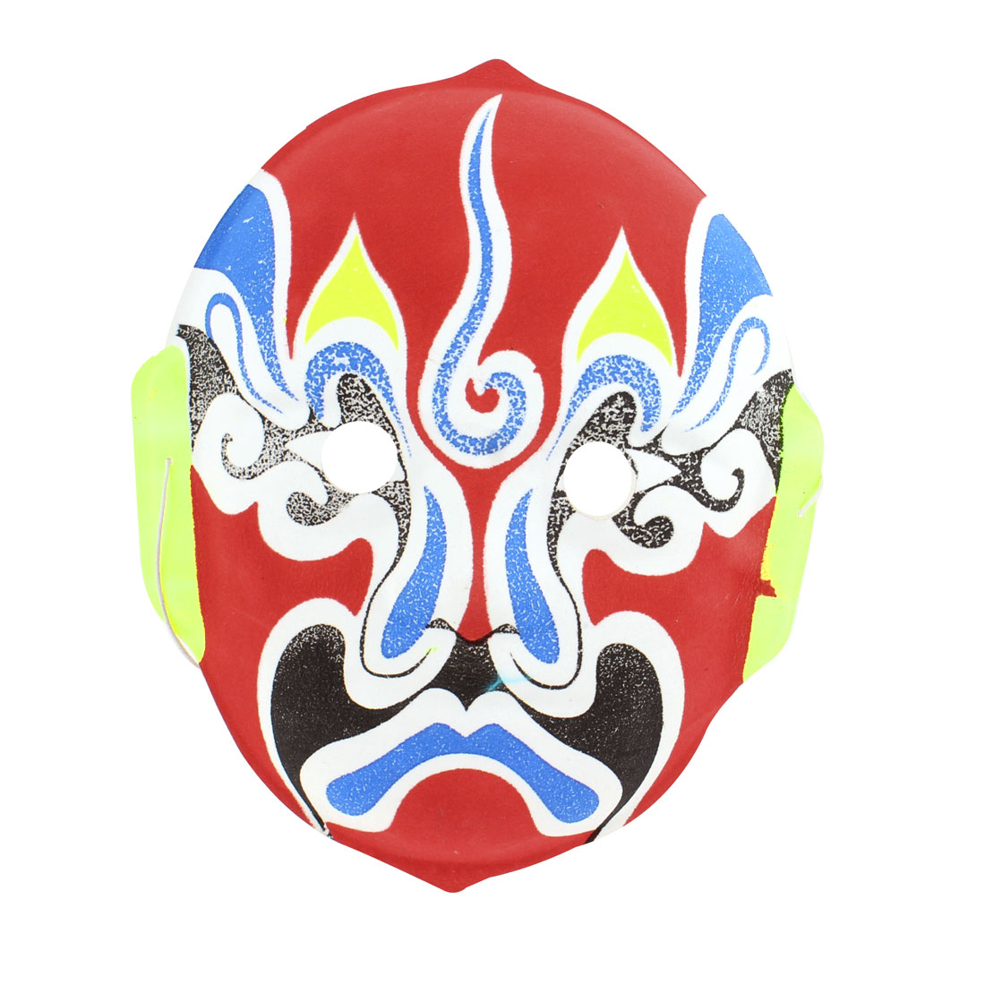 Red Face Halloween Cosplay Parties Peking Opera Facial Mask Blue White