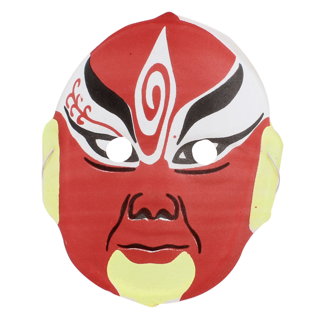 Black Red Yellow White Cosplay Chinese Peking Opera Facial Mask