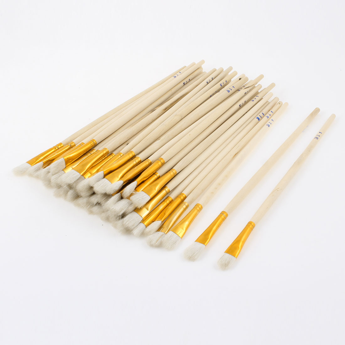 50pcs Wooden Handle Watercolor Drawing Oil Painting Brush