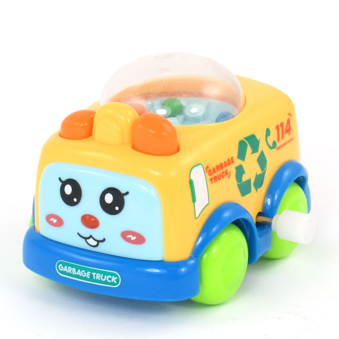 Multicolored Plastic Garbage Truck Car Toy for Child